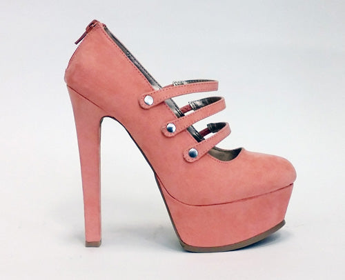 Mary Janes Three Strap Pink
