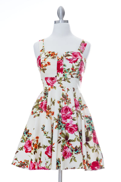 Endless Floral Marilyn Dress - Pink