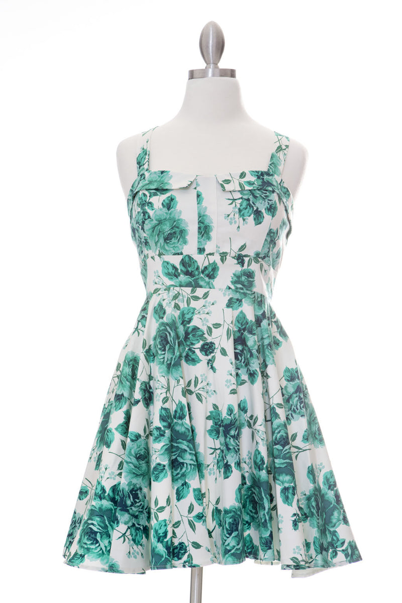 Endless Floral Marilyn Dress - Jade