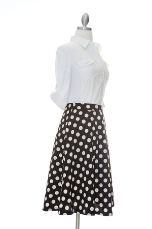 In Full Swing Midi Skirt - Black