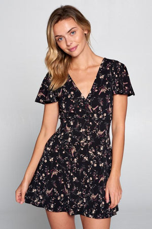 Rumor Has It Floral Wrap Dress