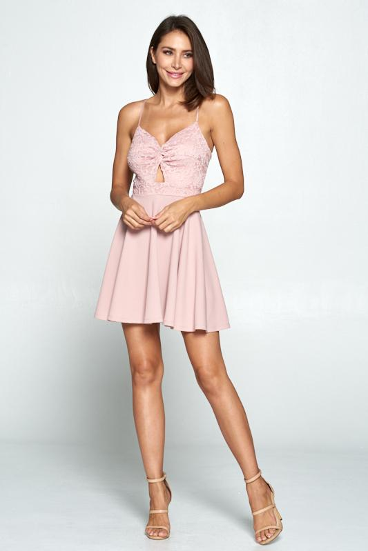 Tickled Pink Lace Dress