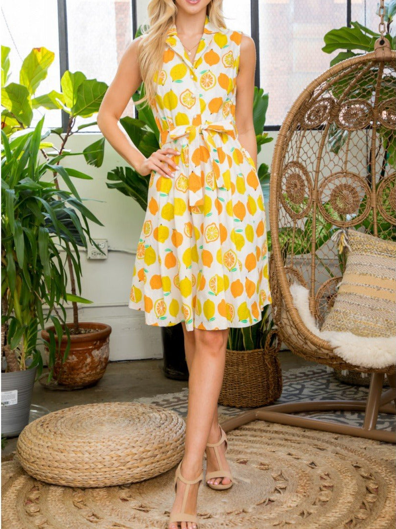Pucker Up Lemon Dress
