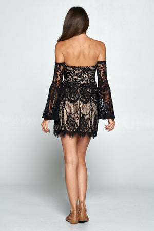 Stella Black Lace Dress