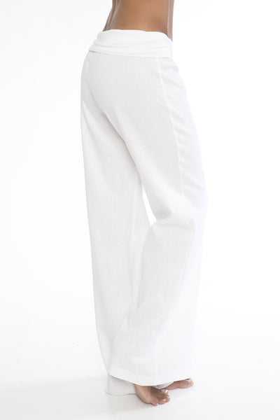 Not Laundry Day Linen Pants - White