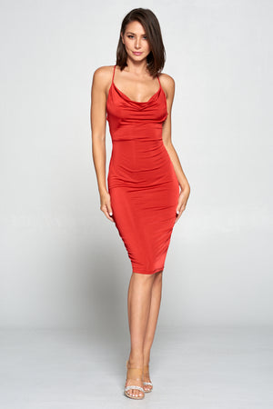 Va-va-voom Body Con Dress Red