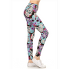 Leggins Skull Black and Purple