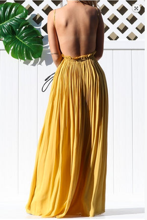 Mariah Maxi Dress Yellow