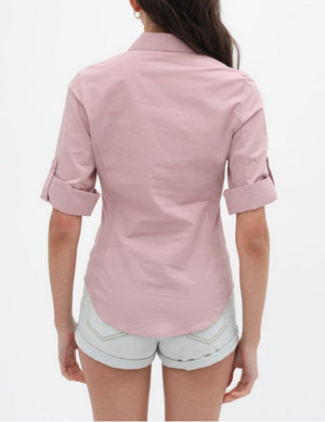 Pintuck Top White