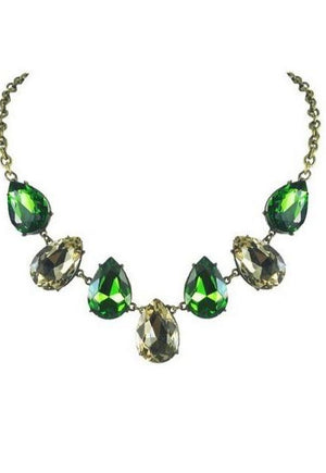 Green Envy Crystal Gemstone Necklace