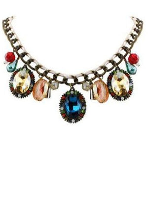 Carnival Crystal Gemstone Necklace
