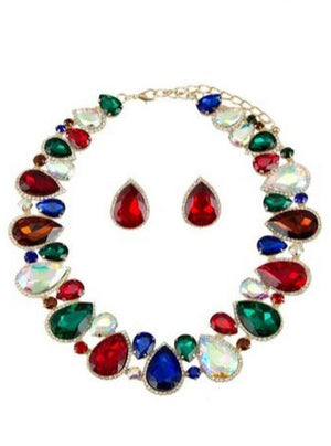 Crazy About You Crystal Gemstone Necklace