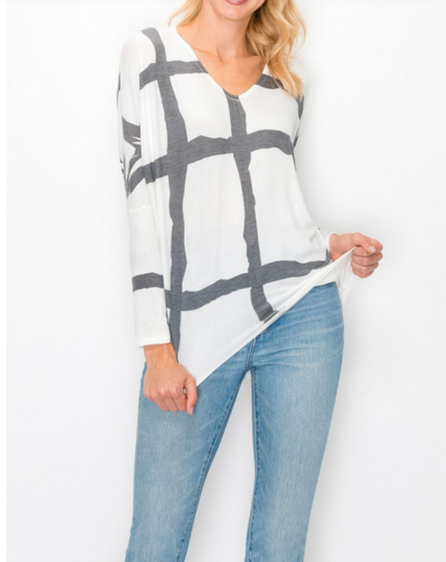 Abstract Top White
