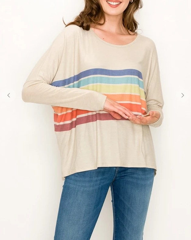 Rainbow Are Forever Stripe Top