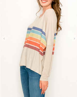 Rainbow Are Forever Stripe Top White