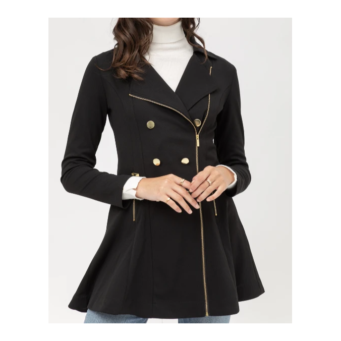 Take on New York Trech Coat Black