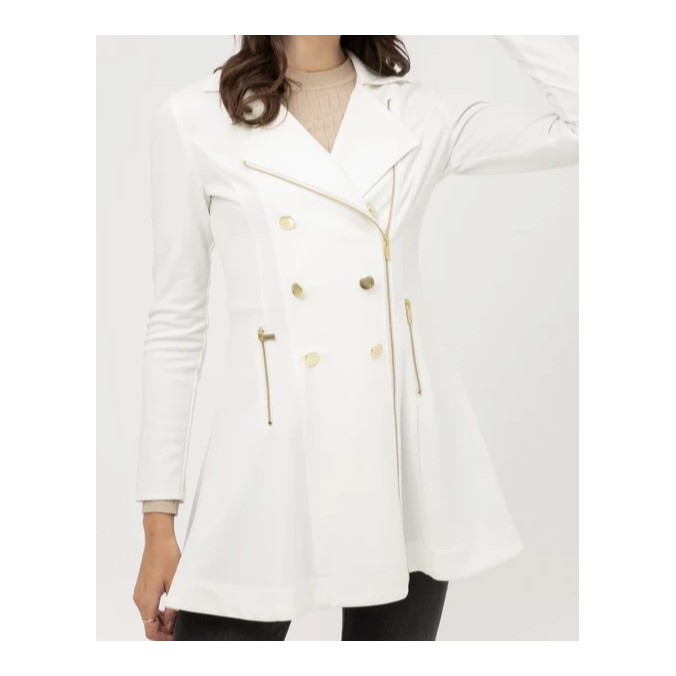 Take on New York Trech Coat White