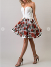 Forever Floral Rose Dress Red