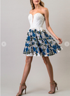 Forever Floral Rose Dress Navy