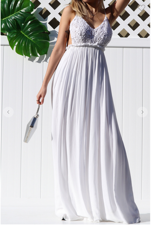 Mariah Maxi Dress White