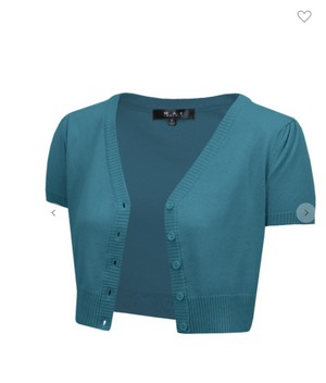 Cap Sleeve Cardigan Teal