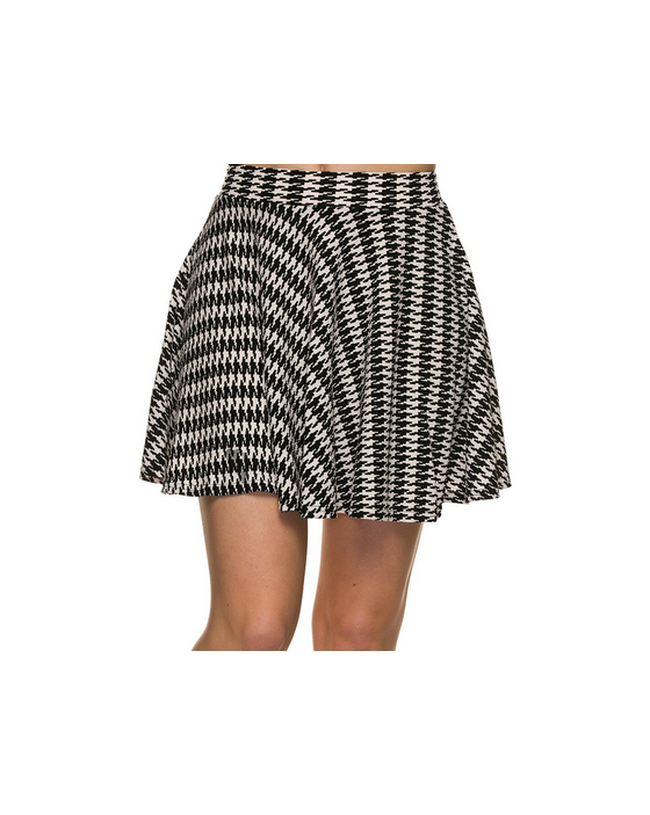 Houndstooth Skater Skirt