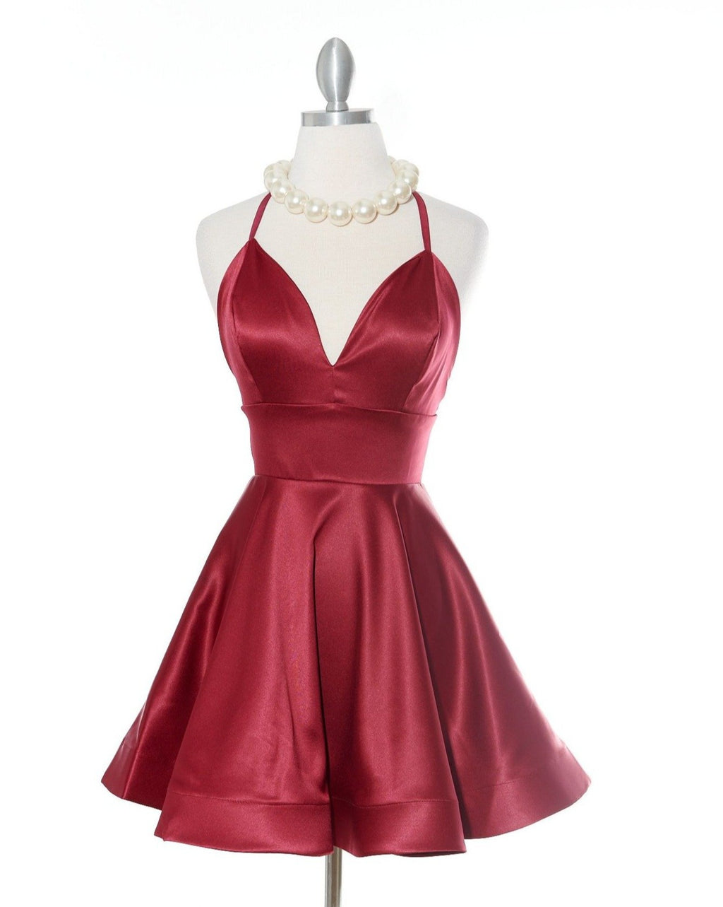 You Flutter Me Burgandy Dress