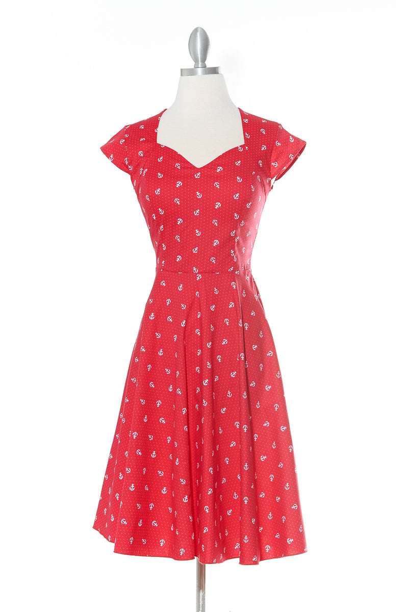 Anchor Lady Red Dress