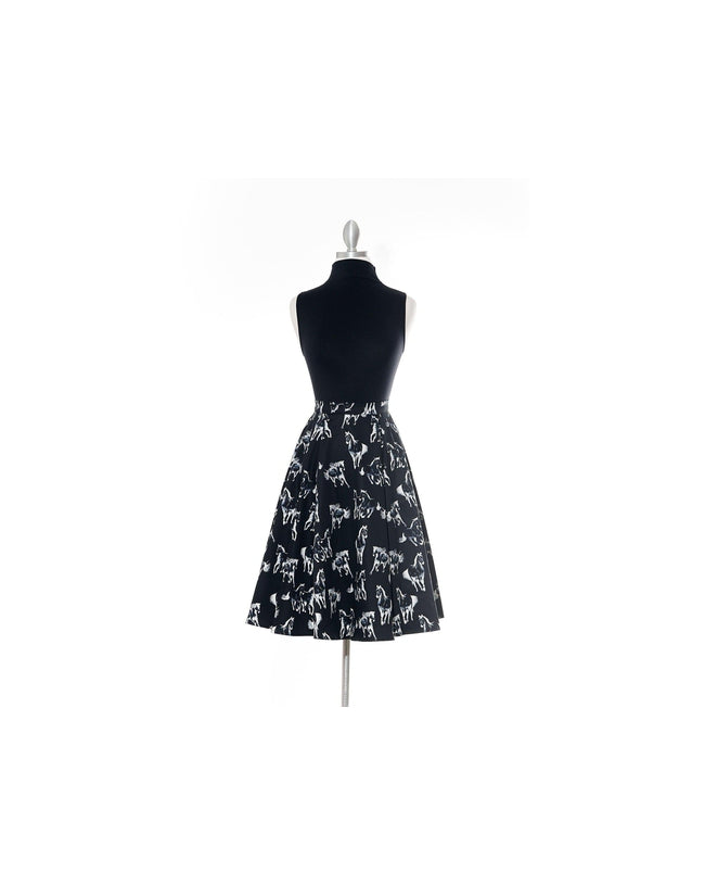 Dark Horses Black Vintage Skirt