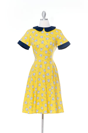 Hoot Hoot Yellow Dress