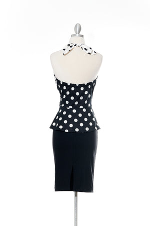 Ms. Dot Vintage Black Top