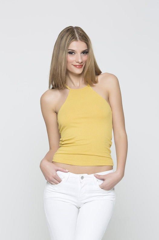 Ribbed Tank - Light Yellow