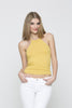 Ribbed Racer Tank - Light Yellow