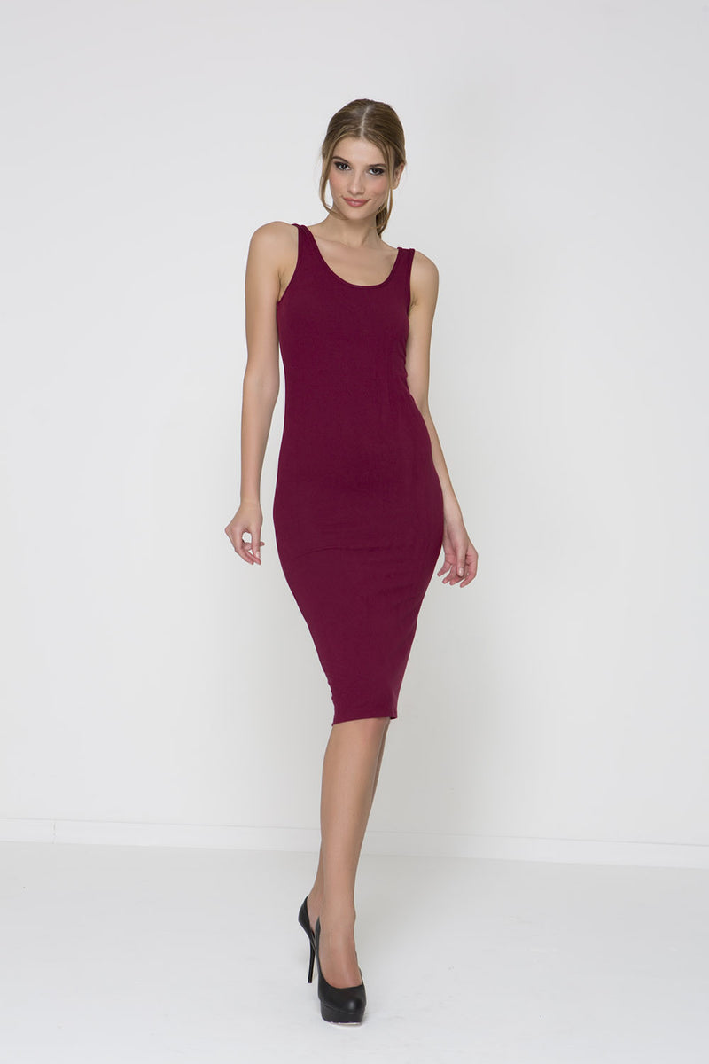 Knot Out Knit Dress - Burgundy