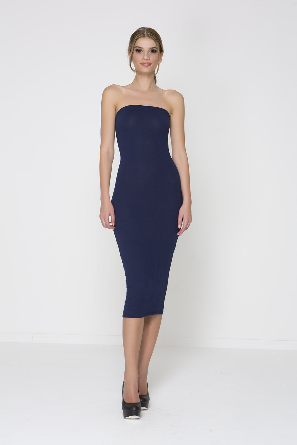 Body Con Knit Dress - Navy