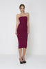 Girl About Town Knit Dress - Burgandy