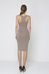 Knot Out V Neck Dress - Sage