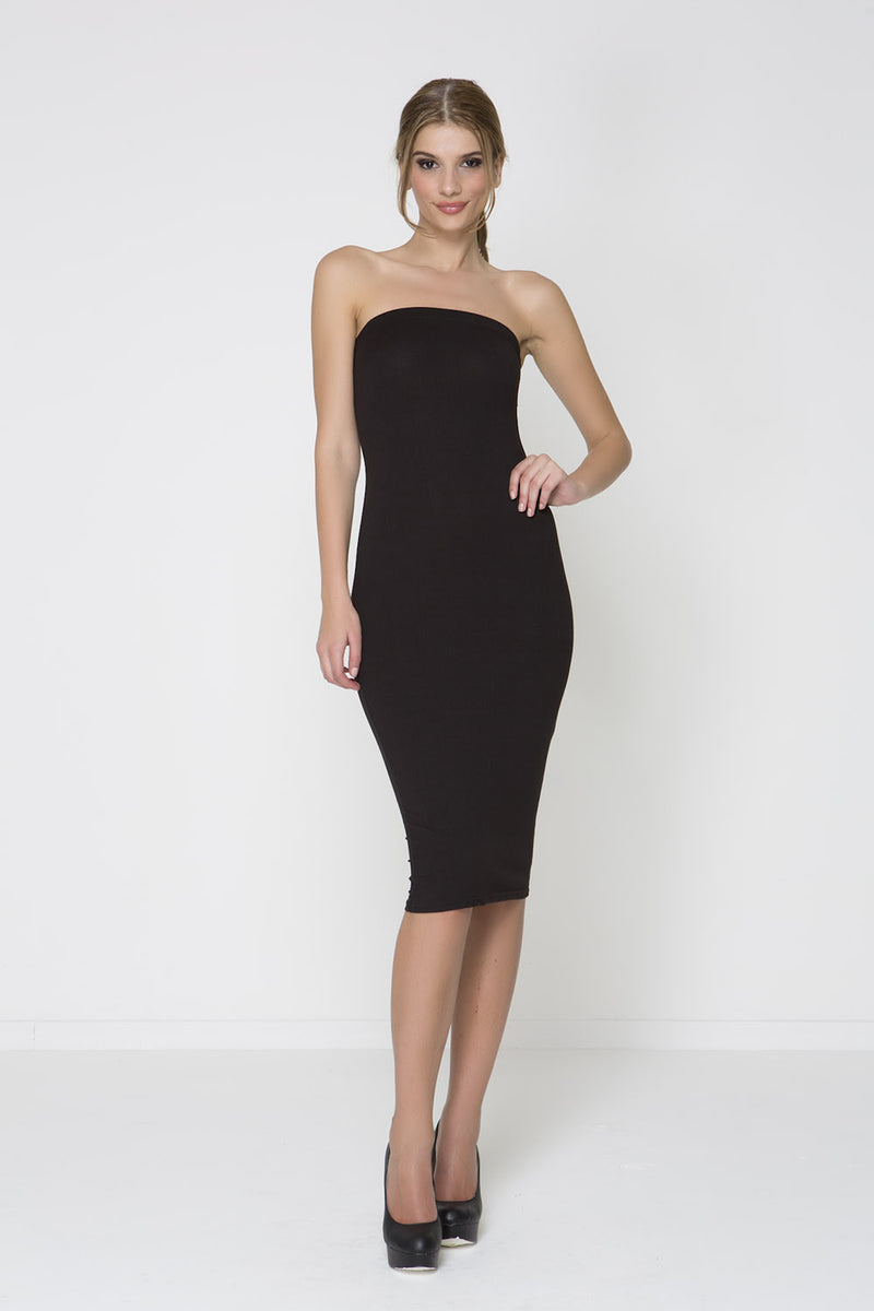 Body Con Knit Dress - Black