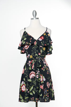 Love On My Mind Black Floral Dress