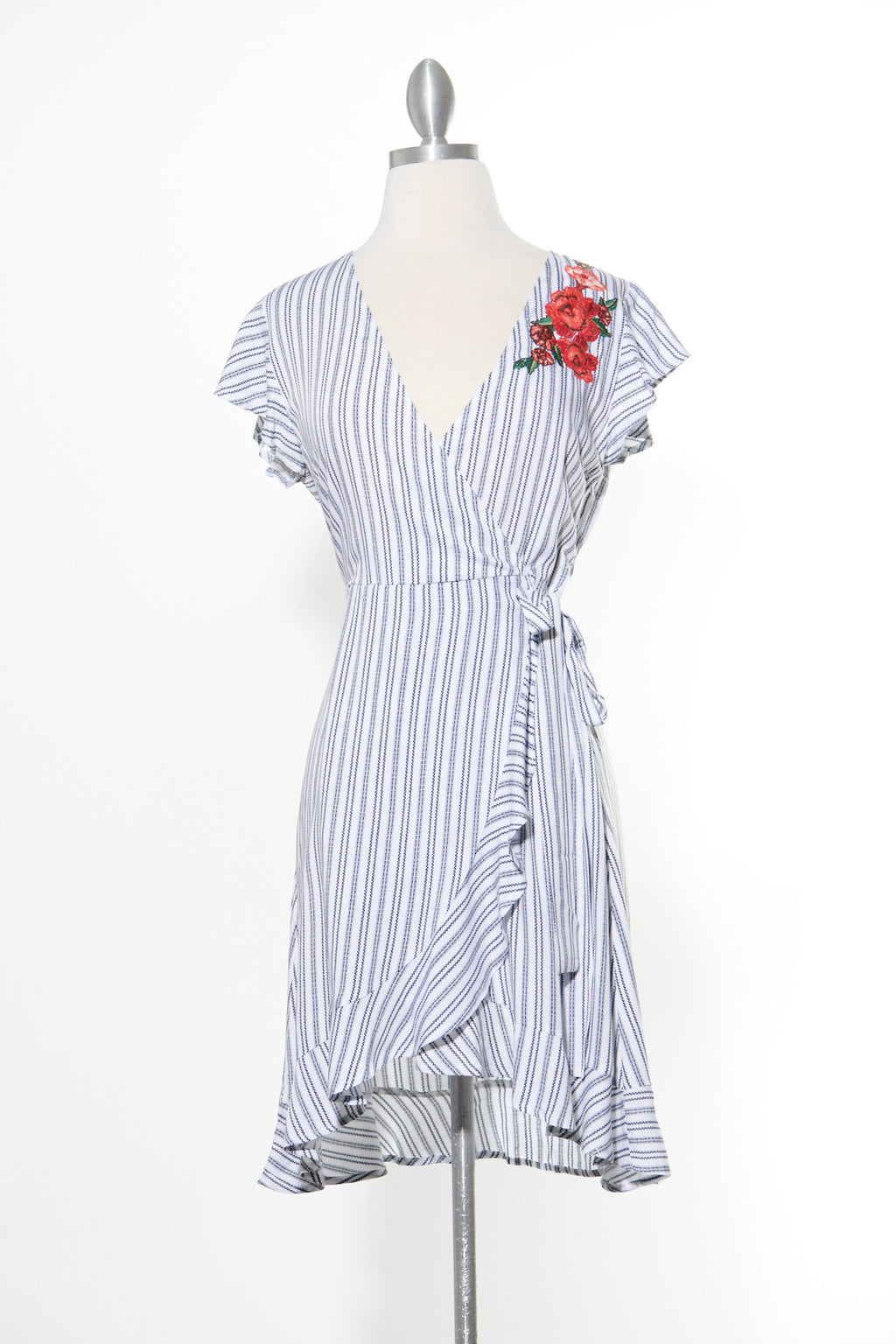 Striped Dreams White Dress