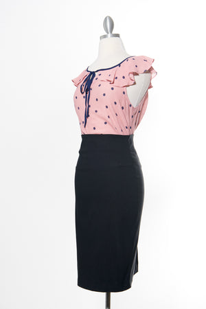 Pretty In Pink Polka Dot Top