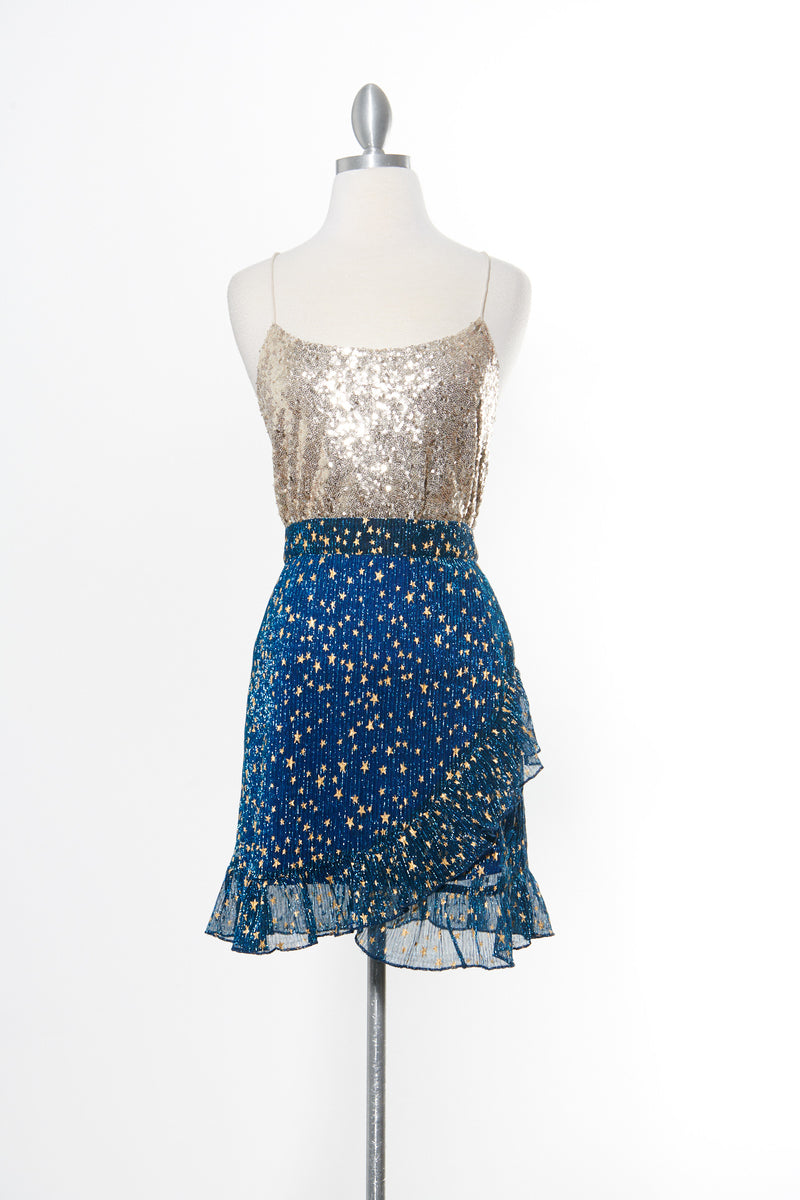 Twinkle Star Blue Skirt