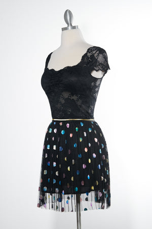 Nightfall Sparkle Black Skirt