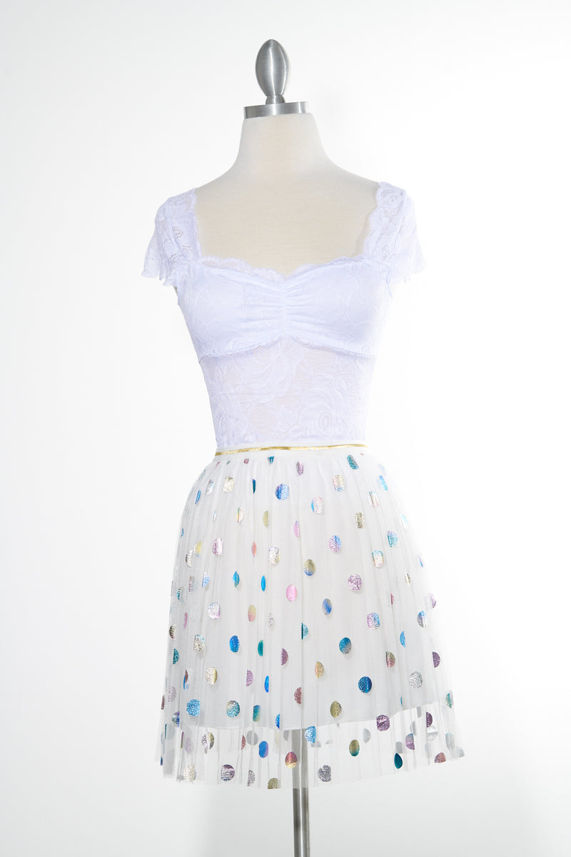 Daylight Sparkle White Skirt