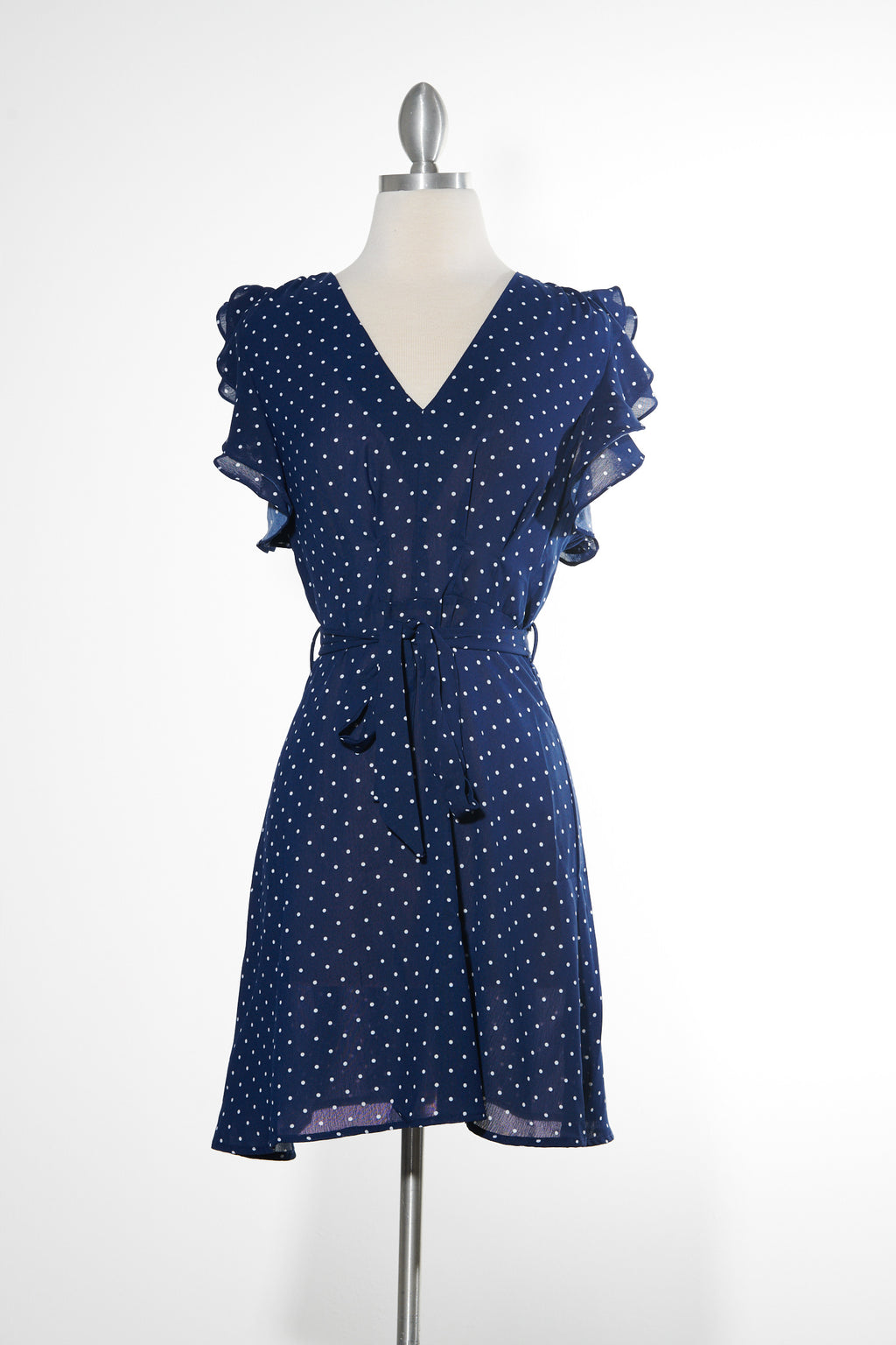 Dakota Flutter Navy Dress