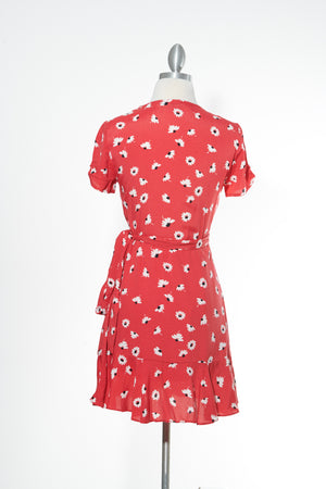 Flower Power Red Dress
