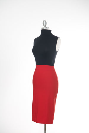 Lady in Red Pencil Skirt