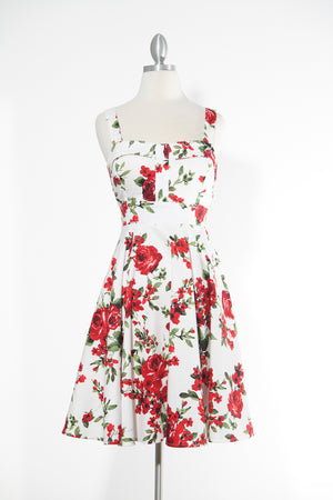 Endless Floral Marilyn Red Rose Dress