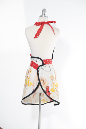 Pin Up Dolls Black Apron