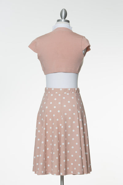 Just A Thought Crop Bolero - Dusty Pink